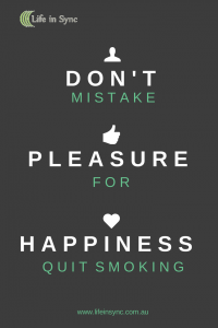 Don't Mistake Pleasure for Happiness